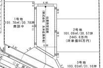嵯峨大覚寺門前八軒町_区画計画図-3